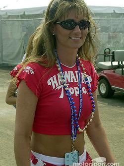 One of the Hawaiian Tropic girls