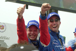 The podium: overall race winners Jan Magnussen and David Brabham