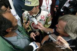Interview time for Jacques Villeneuve