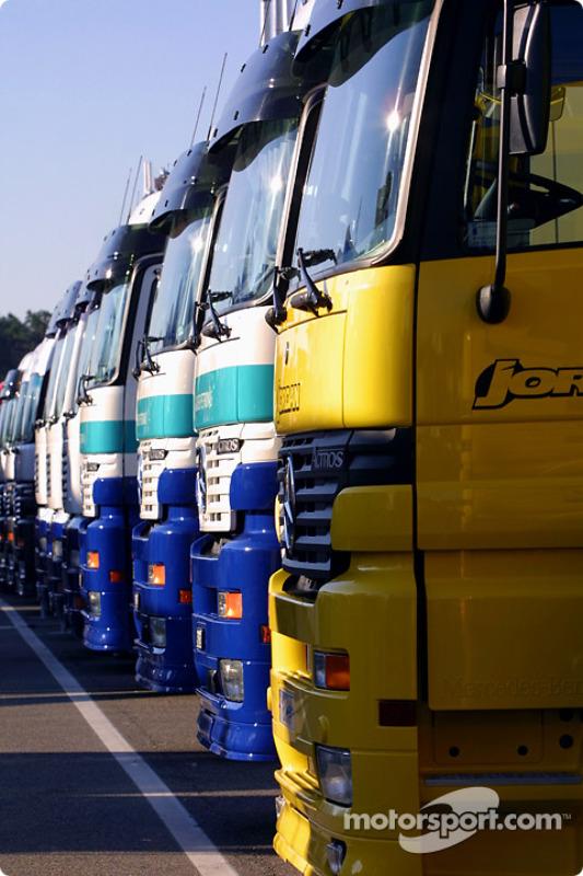 Camions d'équipe