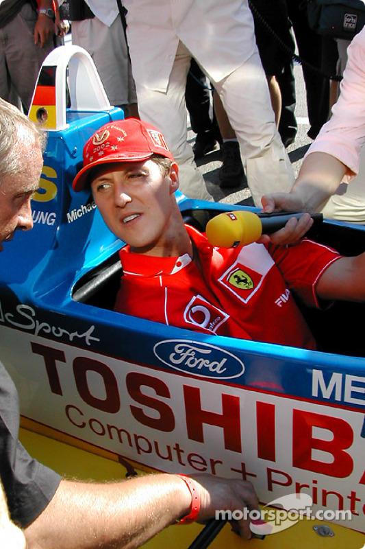 Michael Schumacher after the race