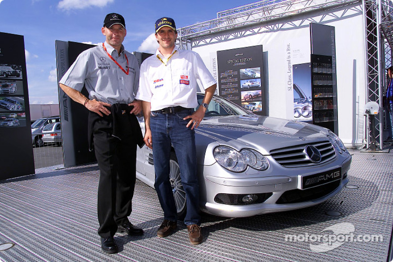 Uwe Alzen y el piloto de F3, Markus Winkelhock