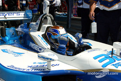 Patrick Carpentier, fastest of the day