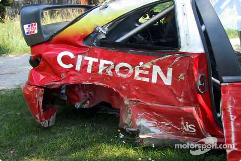 El Citroën accidentado Thomas Radstrom