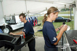 Team Panoz paddock area
