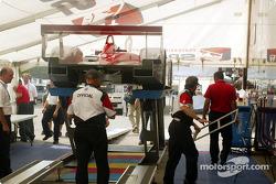 Team Audi paddock area