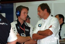 Sam Michael and Gerhard Berger