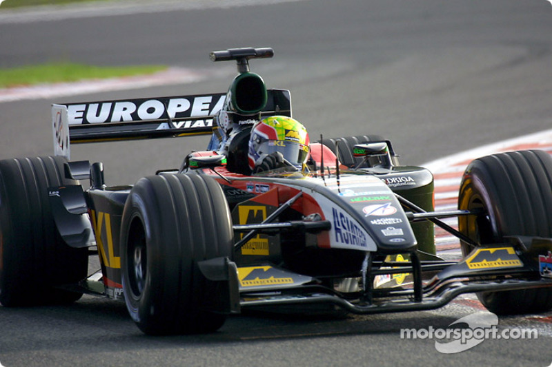 Mark Webber during the warmup session