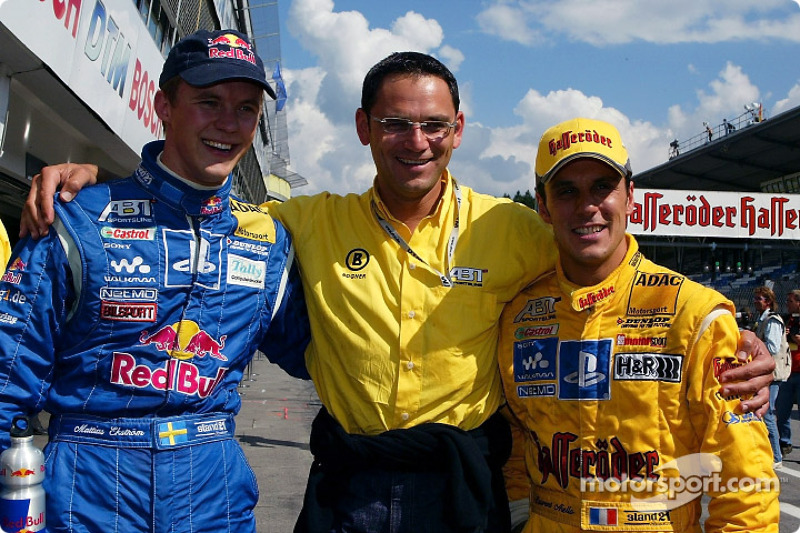 Mattias Ekström, Hans-Jürgen Abt and Laurent Aiello