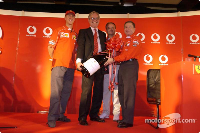 Vodafone press conference: Michael Schumacher and Rubens Barrichello