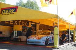 G&W Motorsports paddock area