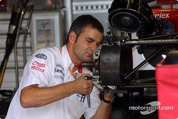 Toyota crew member