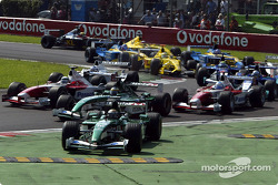 The start: Eddie Irvine