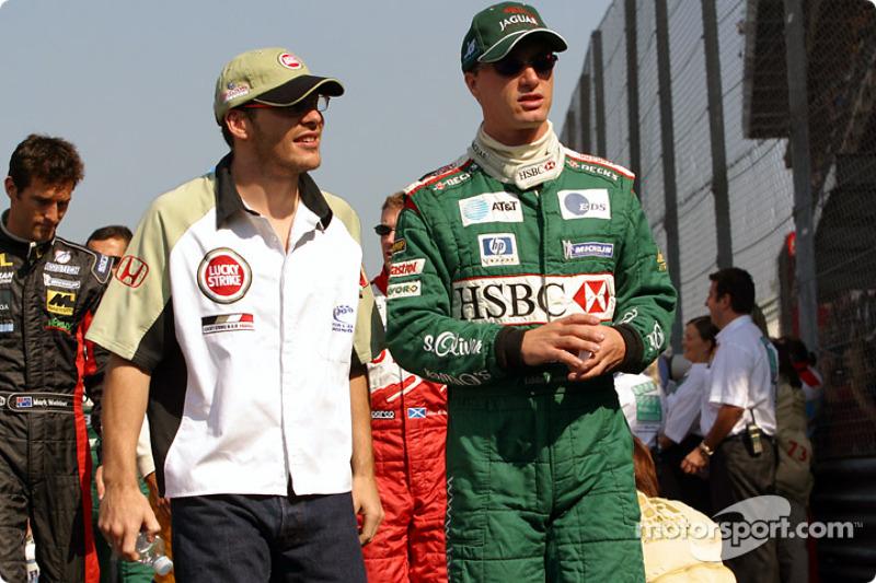 Jacques Villeneuve et Eddie Irvine