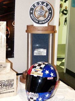 Winners Trophy and Pole Winners Helmet