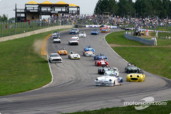 The start: Ron Bartell leads the field