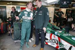 Eddie Irvine and Guenther Steiner