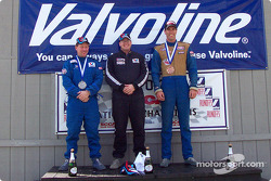 The podium: race winner Richard Spicer with Mike Davies and John Black