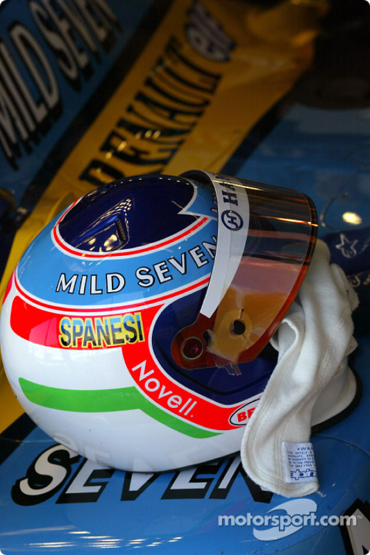 Le casque de Jarno Trulli