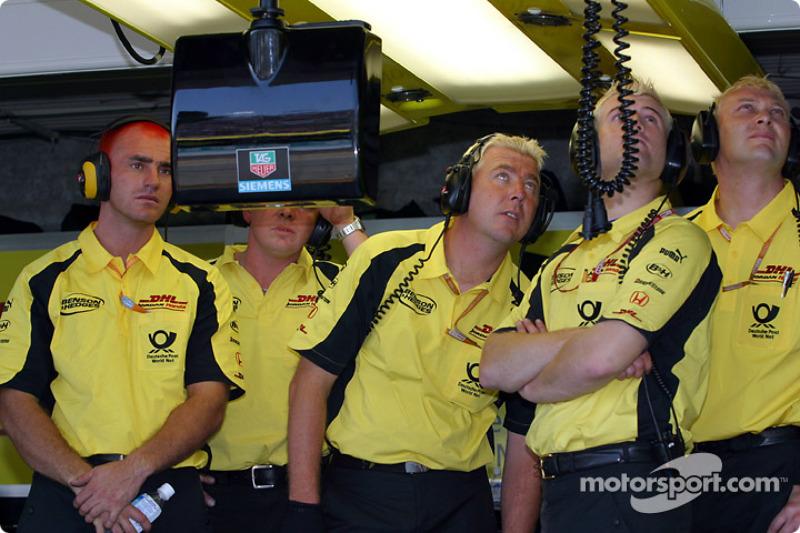 Jordan crew members during the race