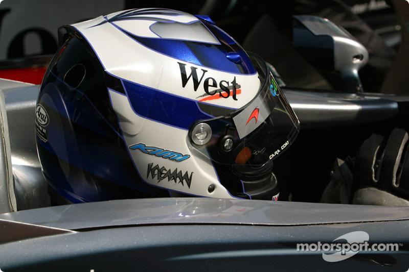Kimi Raikkonen heads for starting grid