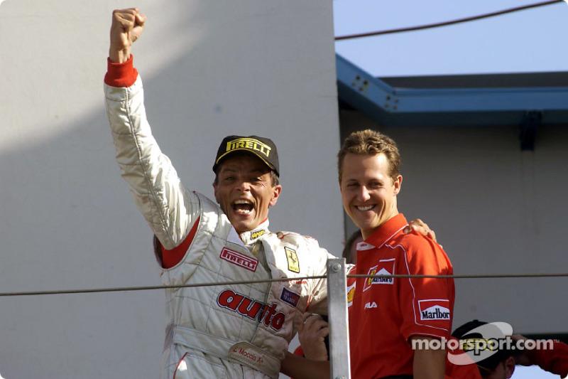 360 Challenge Finals: el ganador de la carrera, Luigi Moccia y Michael Schumacher