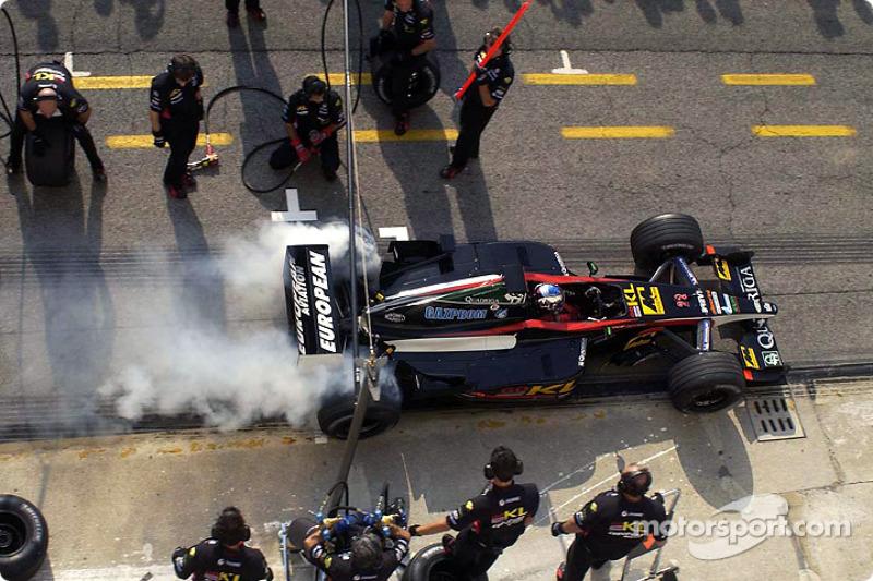 Simulación de parada de pits para Giorgio Pantano