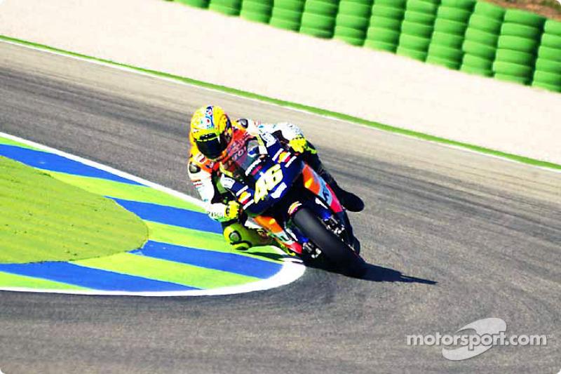 El campeón mundial 2002, Valentino Rossi