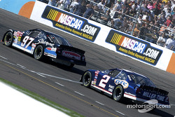 Kurt Busch leads Rusty Wallace
