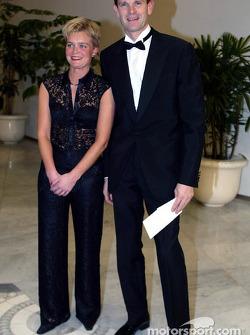 Marcus Grönholm y su esposa