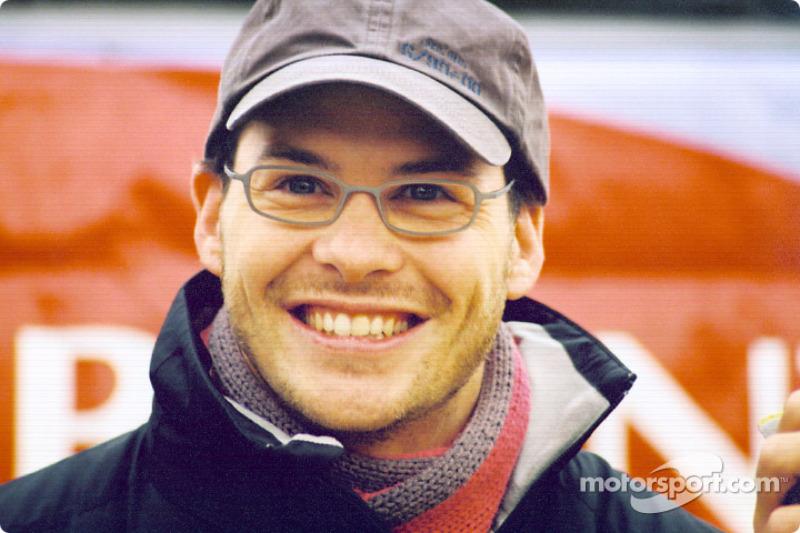 A happy Jacques Villeneuve