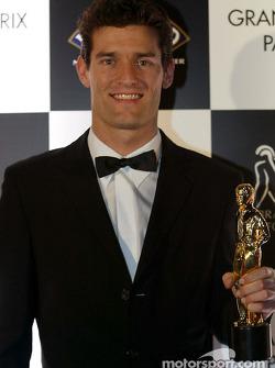 Mark Webber ganó el premio como la Mejor Promesa