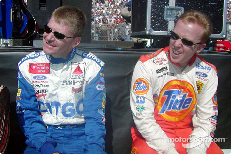 Jeff Burton y Ricky Craven