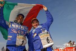 Giovanni Sala and Fabrizio Meoni celebrate