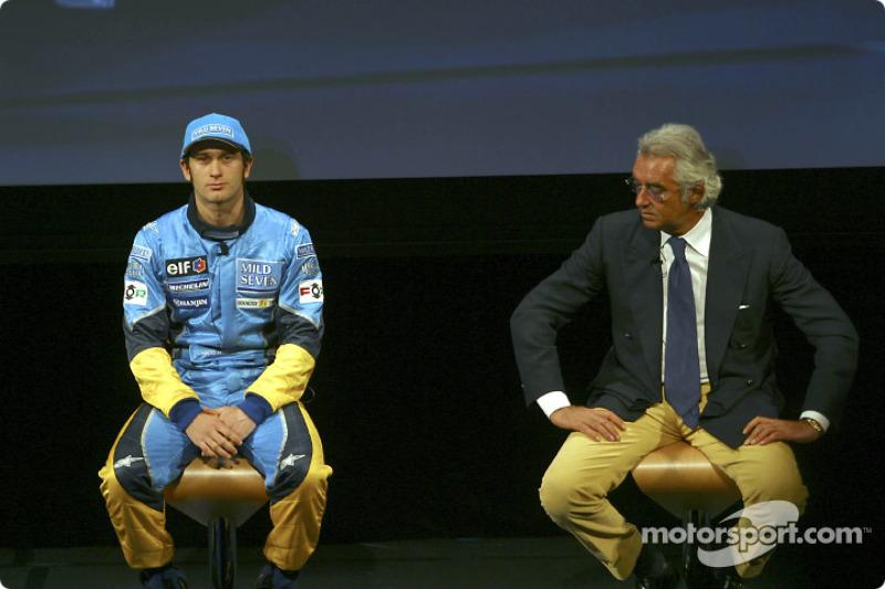 Jarno Trulli and Flavio Briatore