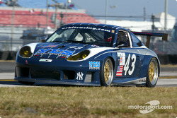 Orbit Racing Porsche 911 GT3 RS, with Porsche factory driver Marc Lieb, NASCAR star Kyle Petty, Yankees Entertainment Systems President Leo Hindery, and race driver instructor Peter Baron sharing the duties