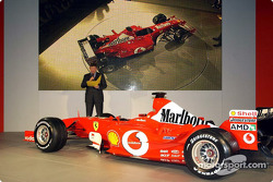 Ross Brawn with the new Ferrari F2003-GA