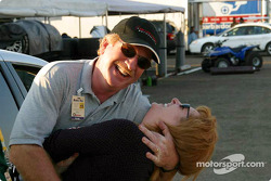Having fun in the Trans-Am series paddock area