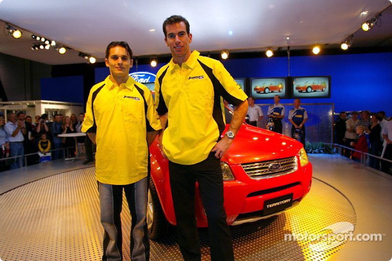 Giancarlo Fisichella and Ralph Firman at Melbourne Motor Show
