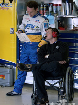 Dave Blaney and crew chief Robert Barker