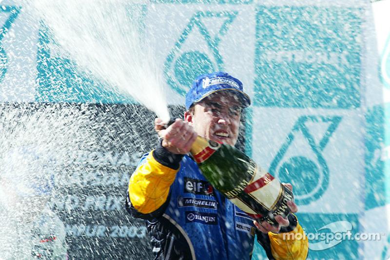 Fernando Alonso, 3º en el GP de Malasia 2003