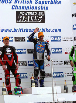 Race 2 podium: race winner Michael Rutter