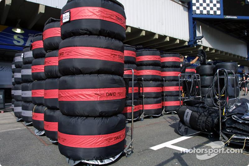 Tires in tirewarmers