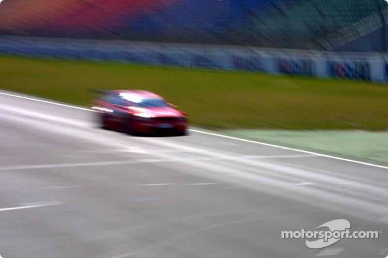 Motion blur on an Opel