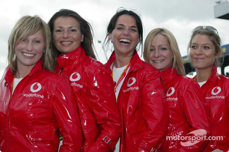 The lovely Vodafone girls