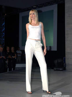 BMW WilliamsF1 Fashion Show in Barcelona: German supermodel Nadja Auermann
