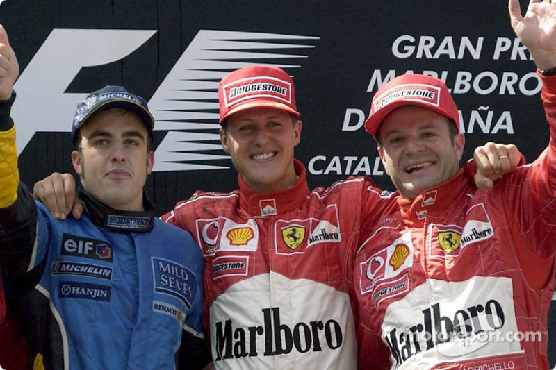 Fernando Alonso, 3º en el GP de España 2003