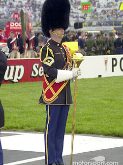The Marine's drum major