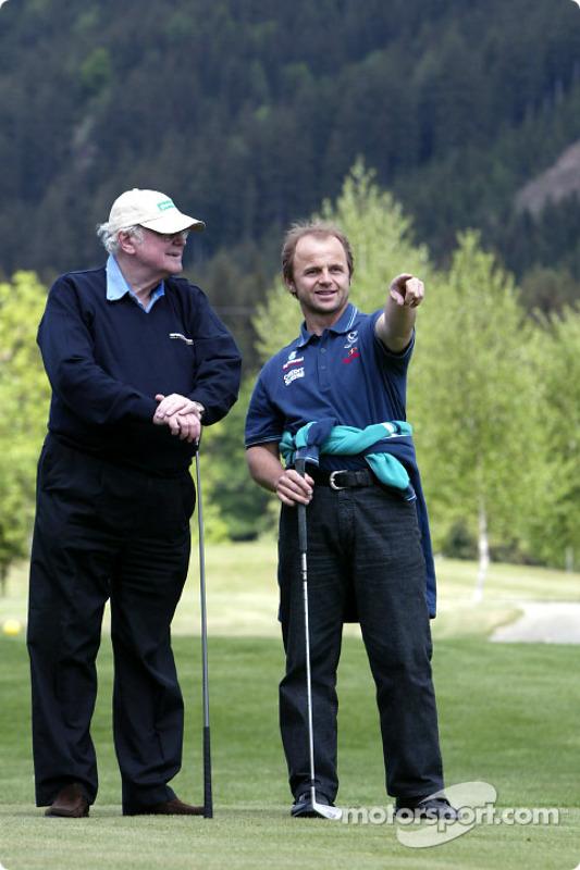Torneo de golf: F1 doctor profesor Sid Watkins y fisioterapeuta Josef Leberer