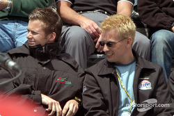 Dan Wheldon and Kenny Brack